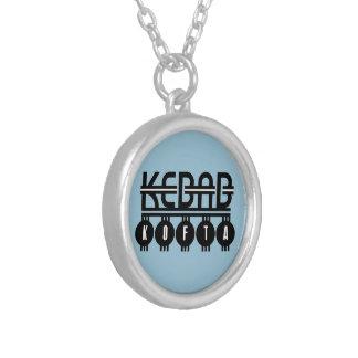 Kebab Kofta Silver Plated Necklace