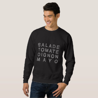 KEBAB MAYO in white (men's sweater) Sweatshirt