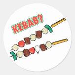 Kebab? Round Stickers
