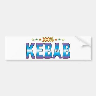 Kebab Star Tag v2 Bumper Sticker