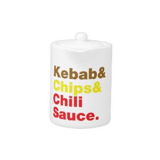 Kebab y microprocesadores y salsa de chile