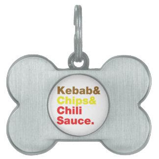 Kebab y microprocesadores y salsa de chile placas de mascota