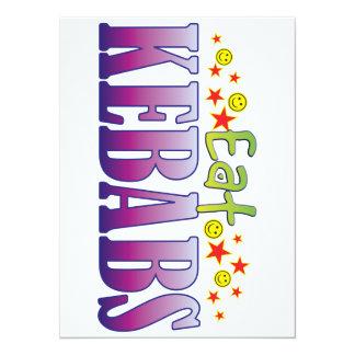 Kebabs Eat 5.5x7.5 Paper Invitation Card