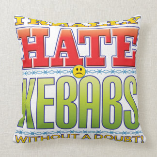 Kebabs Hate Face Throw Pillow