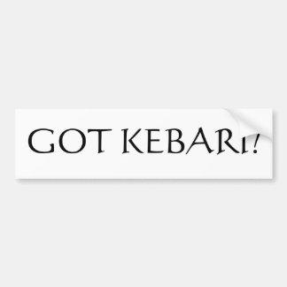 ¿Kebari conseguido? Etiqueta De Parachoque