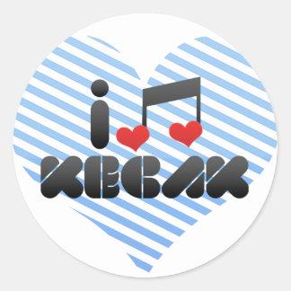 Kecak Classic Round Sticker