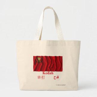 Kedah waving flag with name tote bag