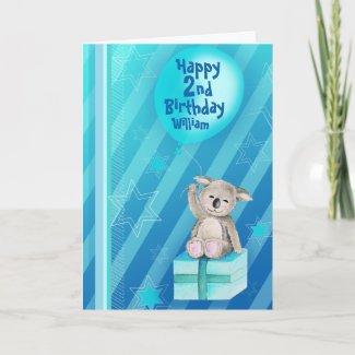 Keddy Koala Card Blue card
