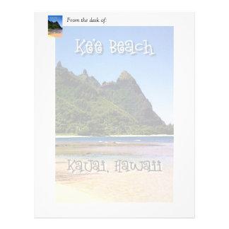 Ke'e Beach, Kauai, Hawaii Letterhead