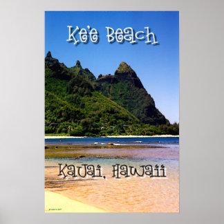 Ke'e Beach, Kauai, Hawaii Poster