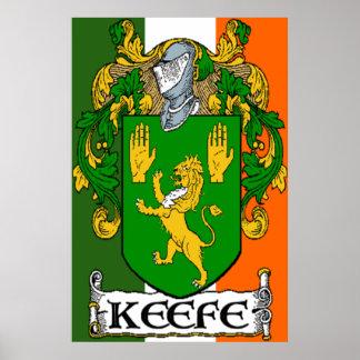 Keefe Coat of Arms Irish Flag Print