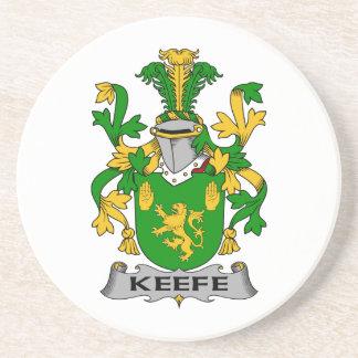 Keefe Family Crest Beverage Coaster