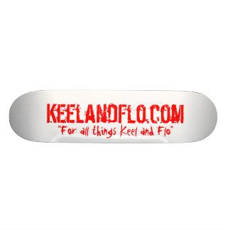 Keel and Flo skateboard