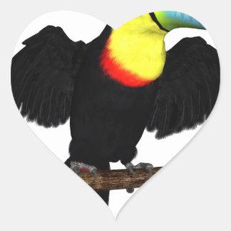 Keel-Bill Toucan Heart Sticker