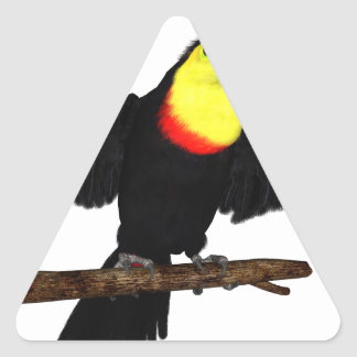 Keel-Bill Toucan Triangle Sticker