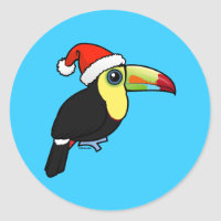 Toucan Christmas Round Sticker