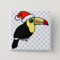 Toucan Christmas Square Button
