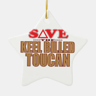 Keel Billed Toucan Save Ceramic Ornament