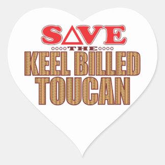 Keel Billed Toucan Save Heart Sticker