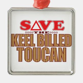 Keel Billed Toucan Save Metal Ornament