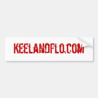 KeelandFlo.com bumper sticker Car Bumper Sticker