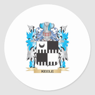 Keele Coat of Arms - Family Crest Classic Round Sticker