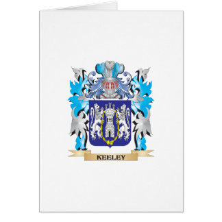 Keeley Coat of Arms - Family Crest Card