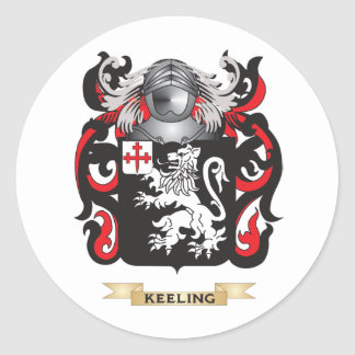 Keeling Coat of Arms (Family Crest) Classic Round Sticker