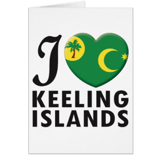 Keeling Islands Love Greeting Cards