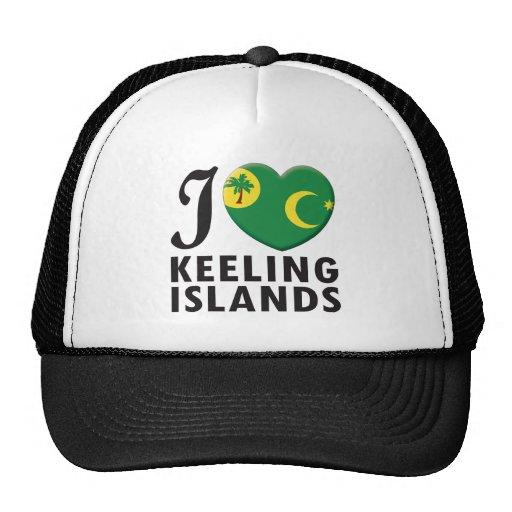 Keeling Islands Love Mesh Hat