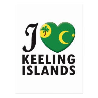 Keeling Islands Love Postcard