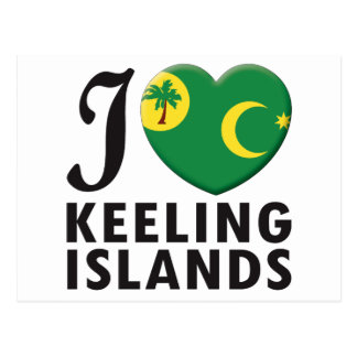 Keeling Islands Love Post Card