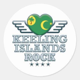 Keeling Islands Rock v2 Round Sticker