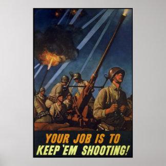 Keem 'Em Shooting Poster