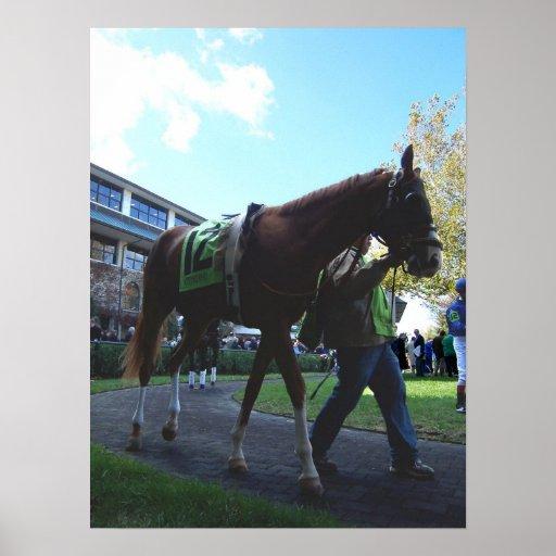 Keeneland Horse Print