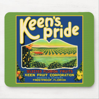 Keen's Pride  Frostproof Florida Label Mouse Pads