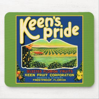 Keen's Pride  Frostproof Florida Label Mouse Pad