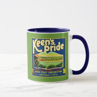 Keen's Pride  Frostproof Florida Label Mug
