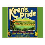 Keen's Pride  Frostproof Florida Label Post Card