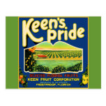 Keen's Pride  Frostproof Florida Label Post Cards