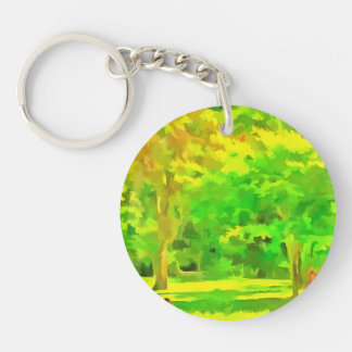 Keep a distance from me Single-Sided round acrylic keychain