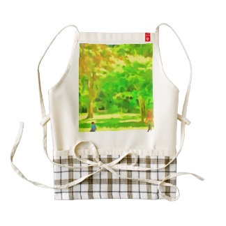 Keep a distance from me zazzle HEART apron