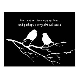 Keep a green tree in your heart with Birds Postcard