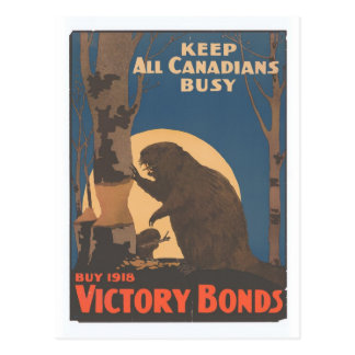 Keep All Canadians Busy Postcard