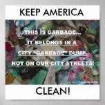 KEEP AMERICA CLEAN! POSTERS