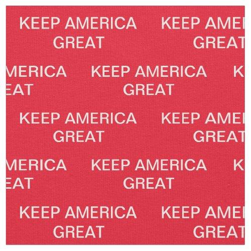 Keep America Great Donald Trump 2020 Fabric