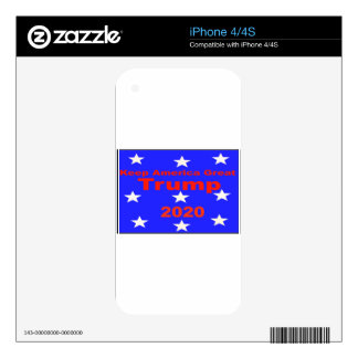 Keep America Great...Trump 2020 Political Slogan Decal For The iPhone 4S