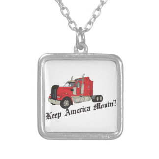 Keep America Movin! Silver Plated Necklace