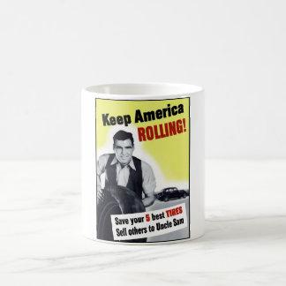 Keep America Rolling Classic White Coffee Mug