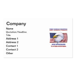 Keep America Working Business Card Template